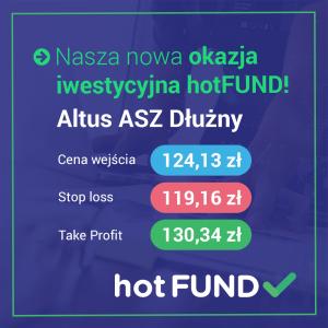 Okazja inwestycyjna - Altus ASZ Dłużny - hot FUND