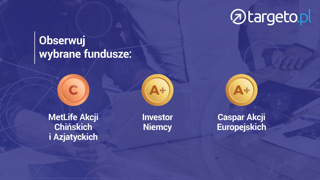 17 prognoza zysków - Obserwuj wybrane fundusze: MetLife Akcji Chińskich i Azjatyckich, Investor Niemcy, Caspar Akcji Europejskich