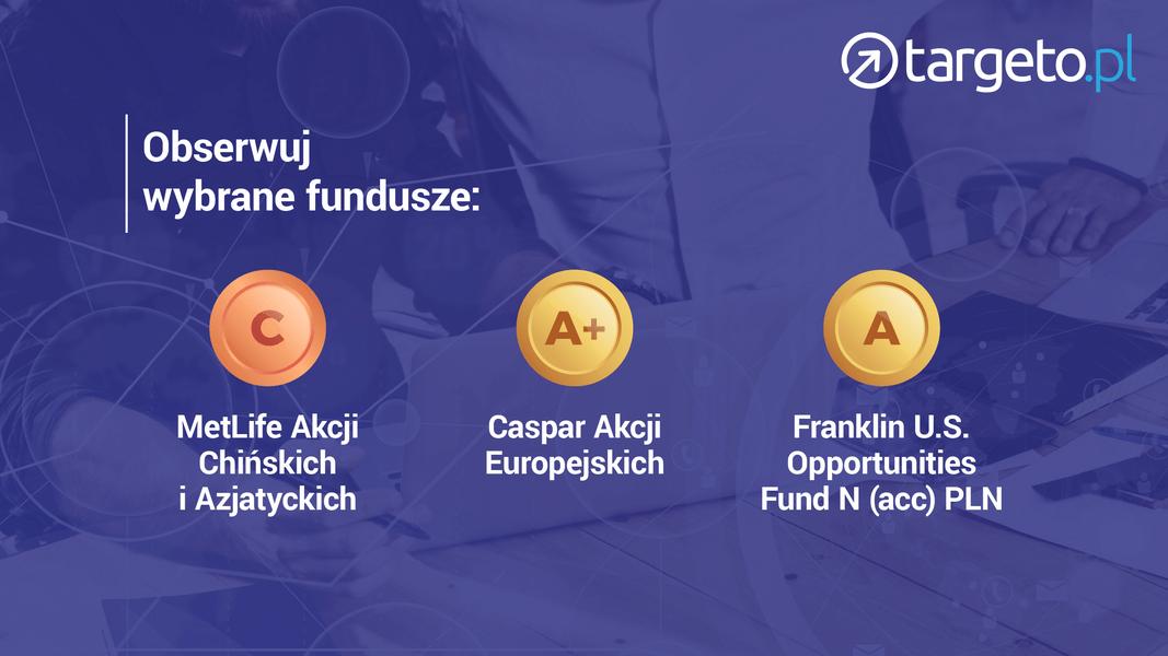 17 prognoza zysków - obserwuj fundusze: MetLife Akcji Chińskich i Azjatyckich, Caspar Akcji Europejskich, Franklin U.S. Opportunities Fund