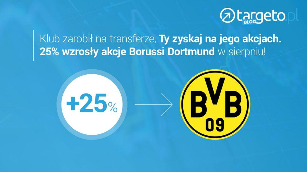 Klub zarobił na transferze, Ty zyskaj na jego akcjach. 25% wzrosły akcje Borussi Dormund w sierpniu!
