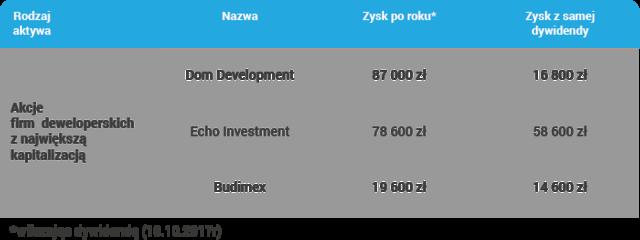 Inwestowanie w akcje deweloperów z największą kapitalizacją
