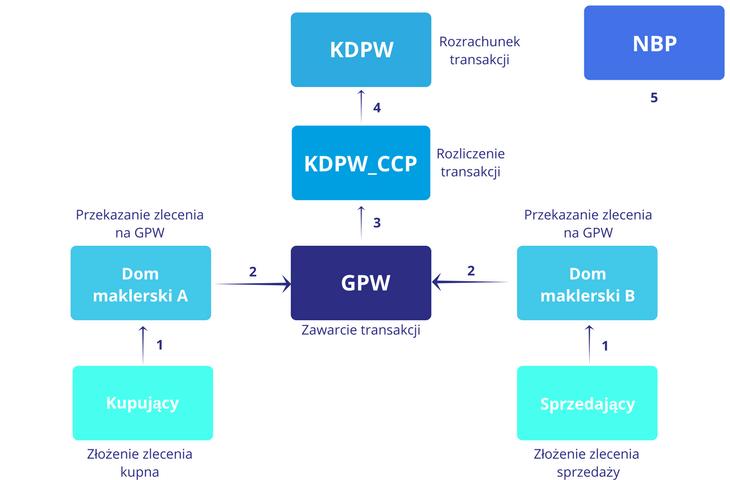 Schemat transakcji zawartej na rynku giełdowym - jak działa giełda